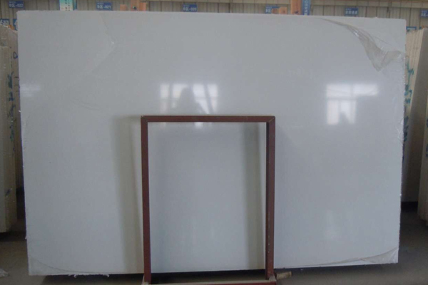 Big size pure white marble slab