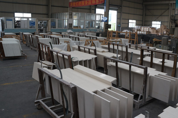 Artificial marble fabrication factory