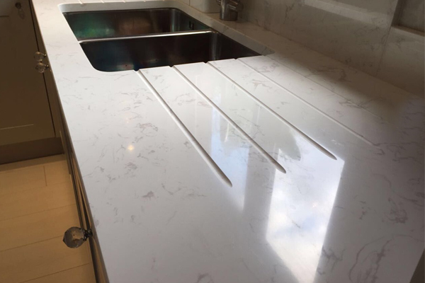 Kitchen top water fluting fabrication