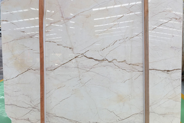 Natural beige marble