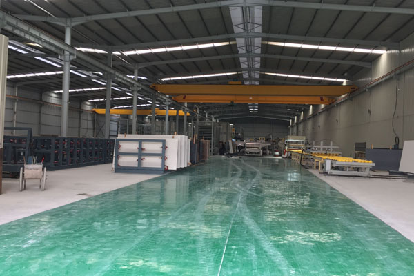 Engineered quartz production lines in factory
