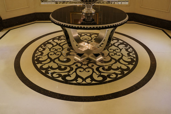 circle water jet artificial marble