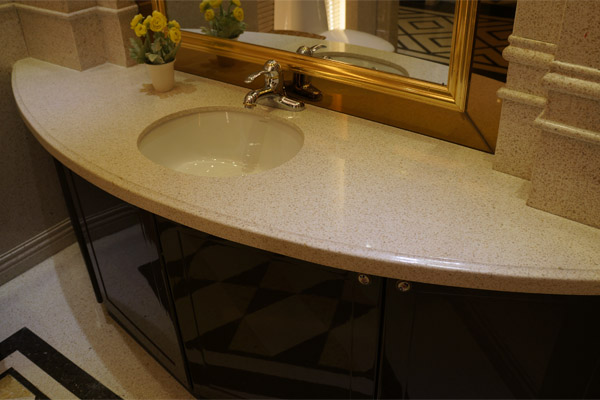 Marble bathroom top