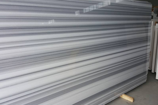 Straight vein white marble cheap price