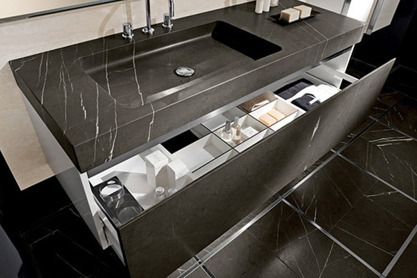 honed surface nero marquina marble