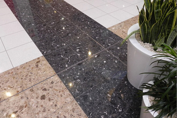 agglomerate marble tiles floor