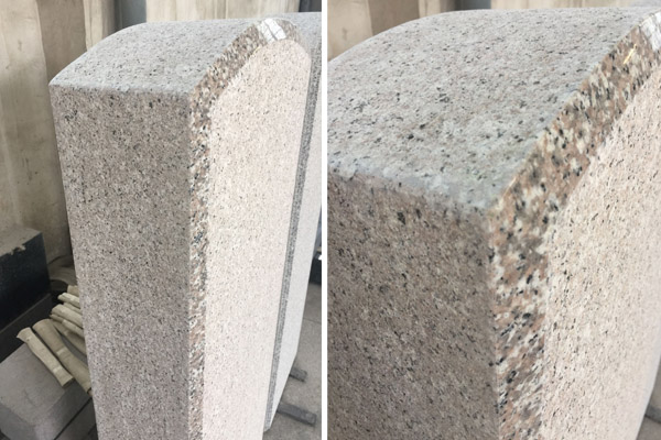 G635 upright granite headstones