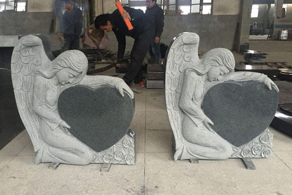 heart engraving stone for tombstones