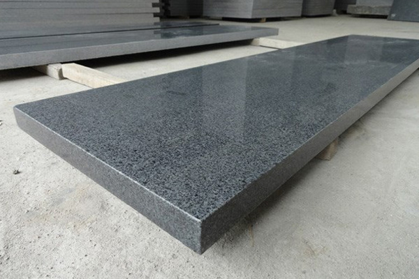 Impala black granite steps