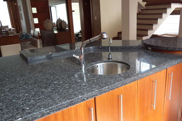 blue granite panel for kitchen top