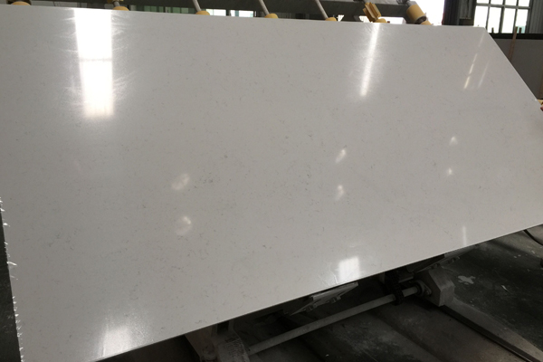 engineered marble vein quartz counters