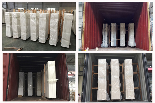 big slab quartz stone package and loading