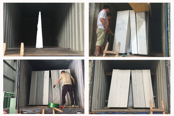 A-frame quartz slab loading