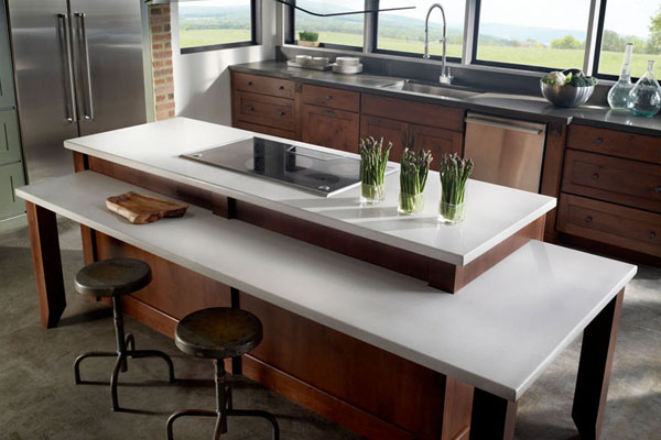 white quartz countertop