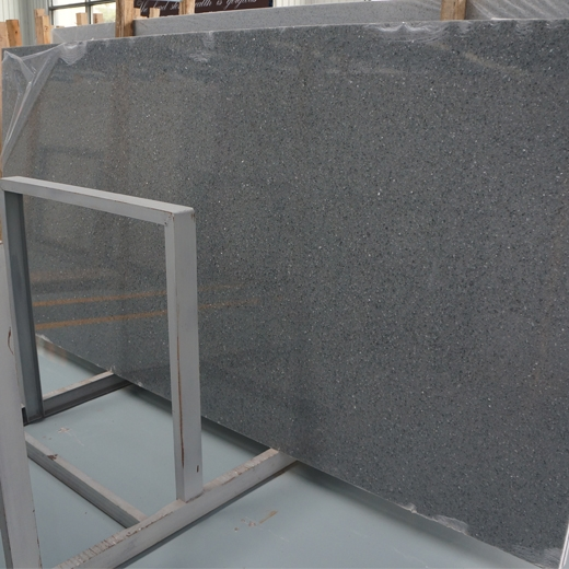 Shinning grey quartz countertops