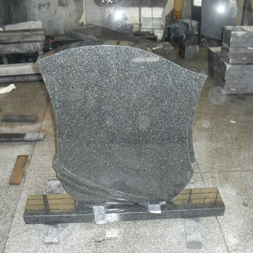 Blue Pearl Granite gravestone carving