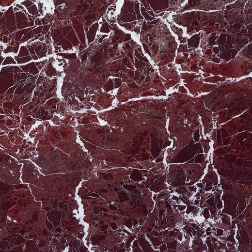 Red Color Natural Marble White Vein